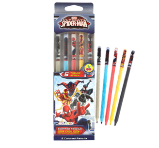 Spider-Man Colored Smencils 5-Pack