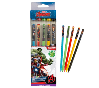 Marvel Avengers: Colored Smencils 5-pack